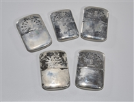 Group of Five Japanese Pocket Hand Warmers