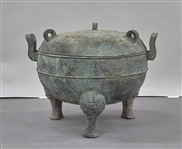 Large Chinese Bronze Covered Ding