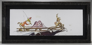 "Chuck Jones Signed Print of The Grinch: ""Sleigh Ride"""