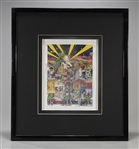 "3-D Serigraph by Charles Fazzino: ""Hollywood"""