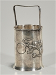 Japanese Silver Sleeve With Handle and Dragon