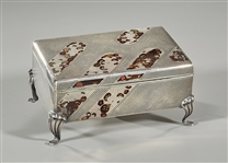 Japanese Silver Enameled Box