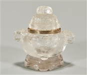 Chinese Rock Quartz Covered Censer