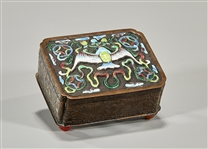 Chinese Enameled Metal Box