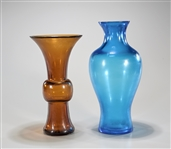 Two Beijing Glass Vases