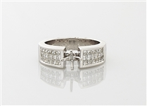 18K White Gold & Diamond Ring Mounting