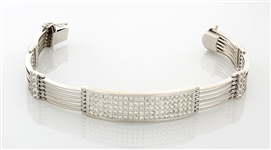 14K White Gold & Diamond Bracelet