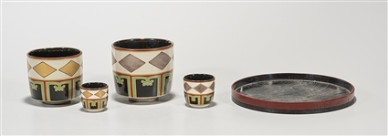 Group of Four Japanese Tea Cups