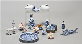 Group of Japanese Blue and White Ceramics