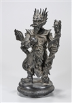Chinese Bronze Dragon Lord Figure
